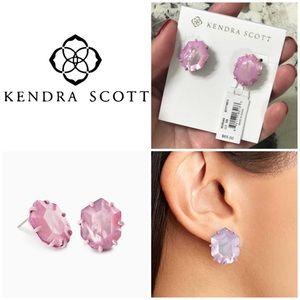Morgan Matte Stud Earrings Lilac Mother Of Pearl